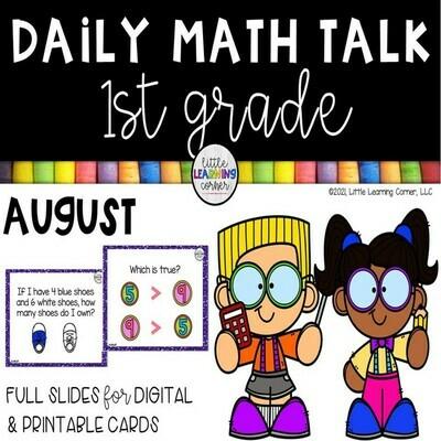 First Grade Math Talks - August