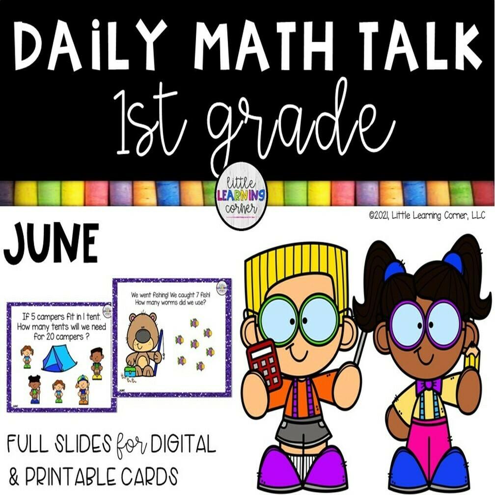 First Grade Math Talks - June