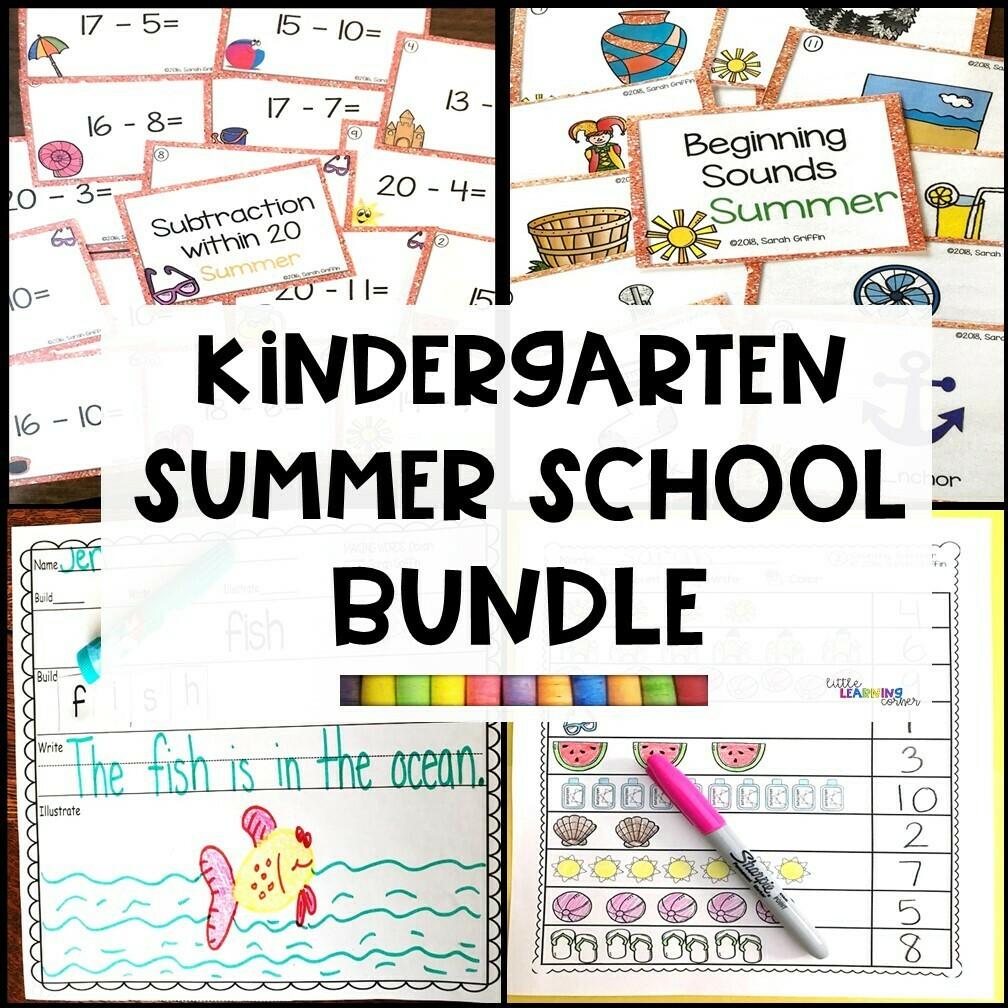 Kindergarten Summer School Bundle