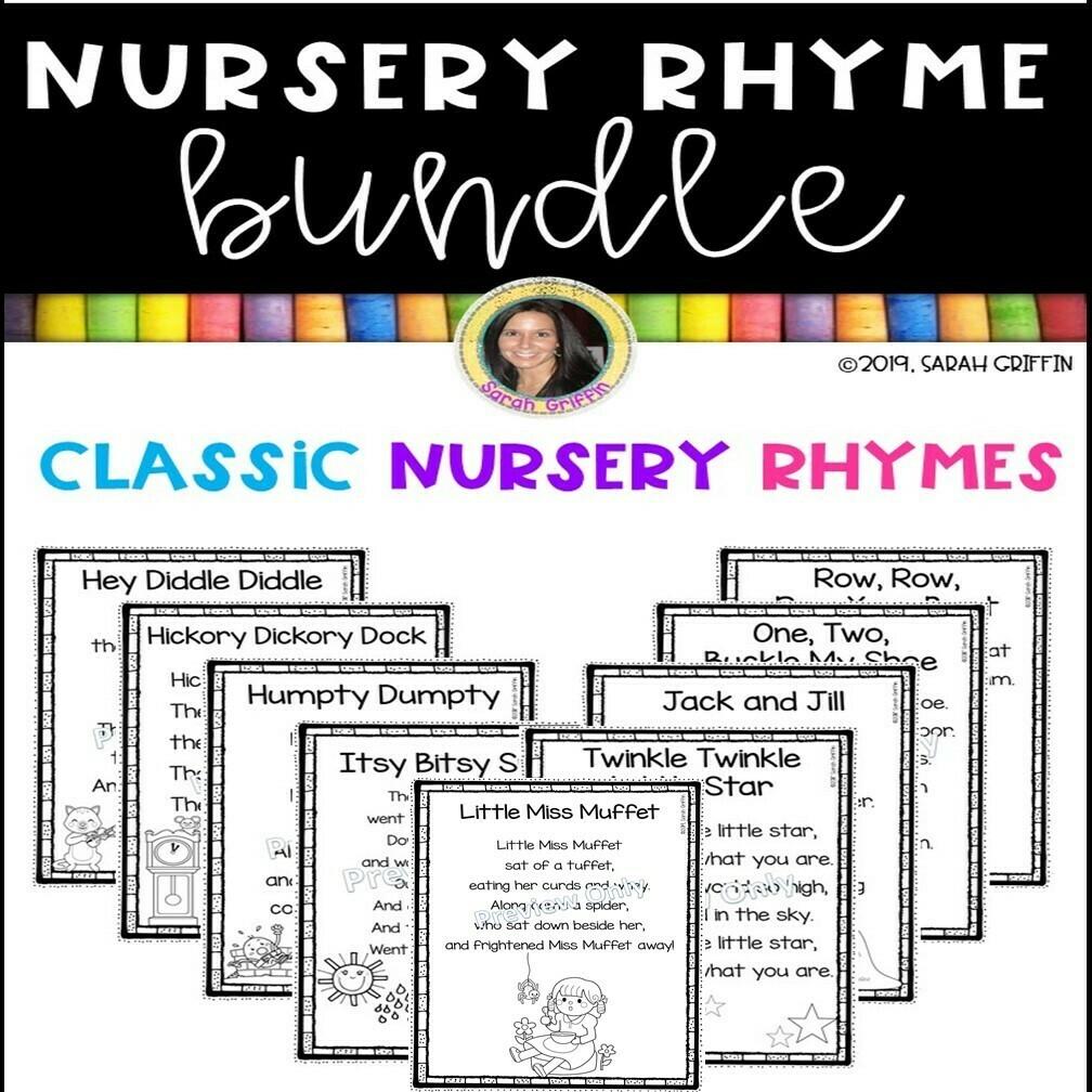 Nursery Rhyme Bundle 35 Printable Poems