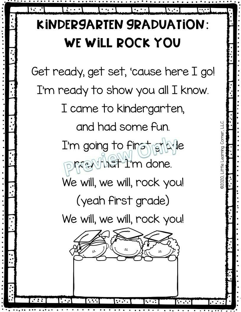 We Will Rock You - Kindergarten Graduation Poem
