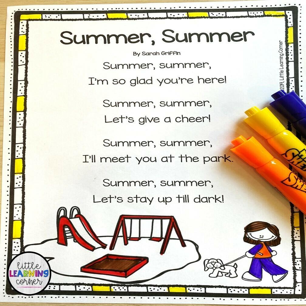 Summer, Summer Poem for Kids