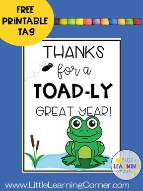 Frog Thank You Tag