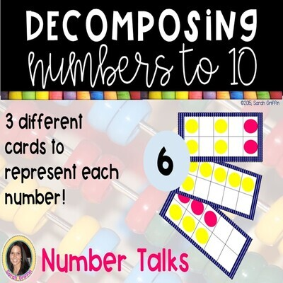 Decomposing Numbers to 10 Dot Cards
