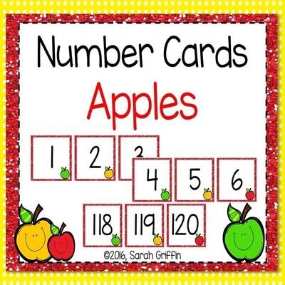 Apple Number Cards 0-120