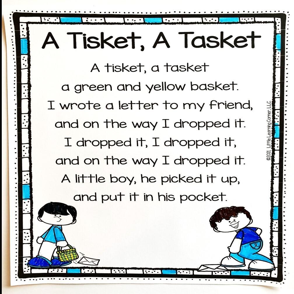 A Tisket A Tasket Printable Poem