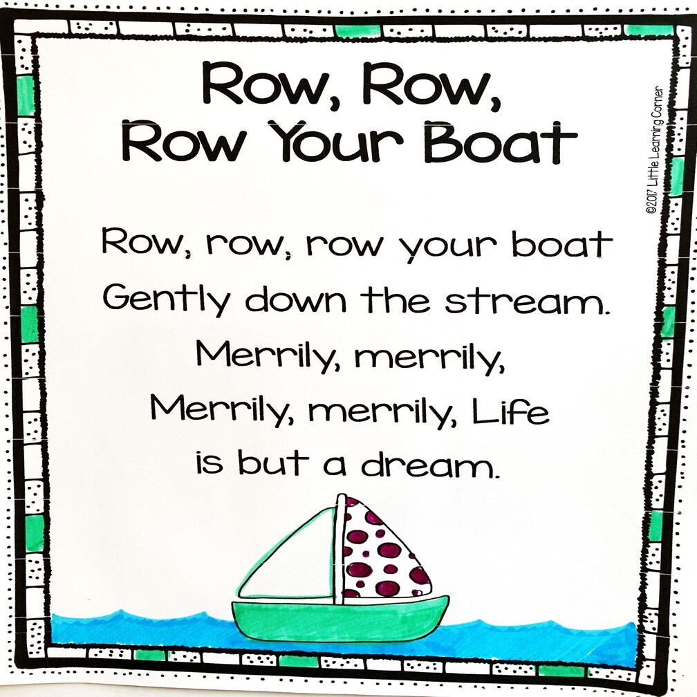 Row Your Boat Printable Poem