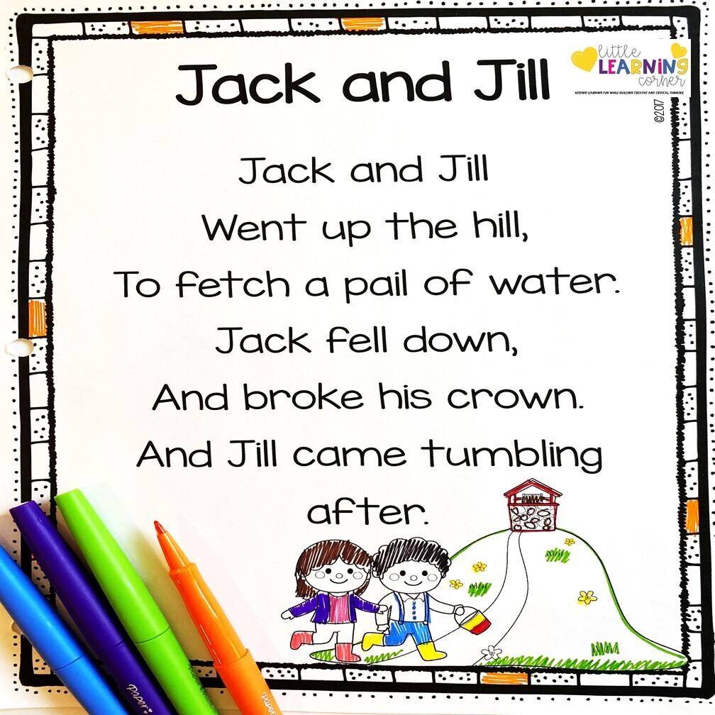Jack and Jill Printable Poem