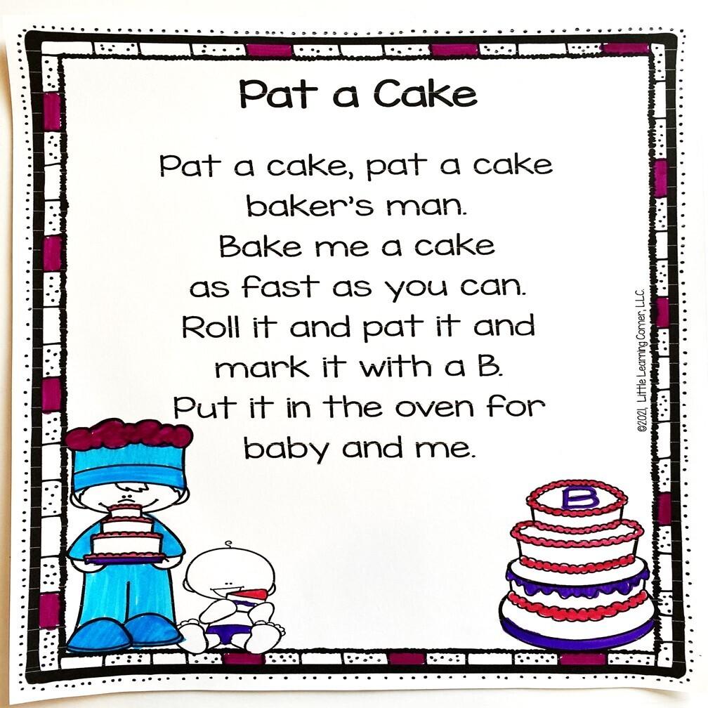 Pat a Cake Printable Poem