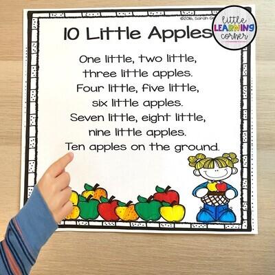 Ten Little Apples Printable Poem