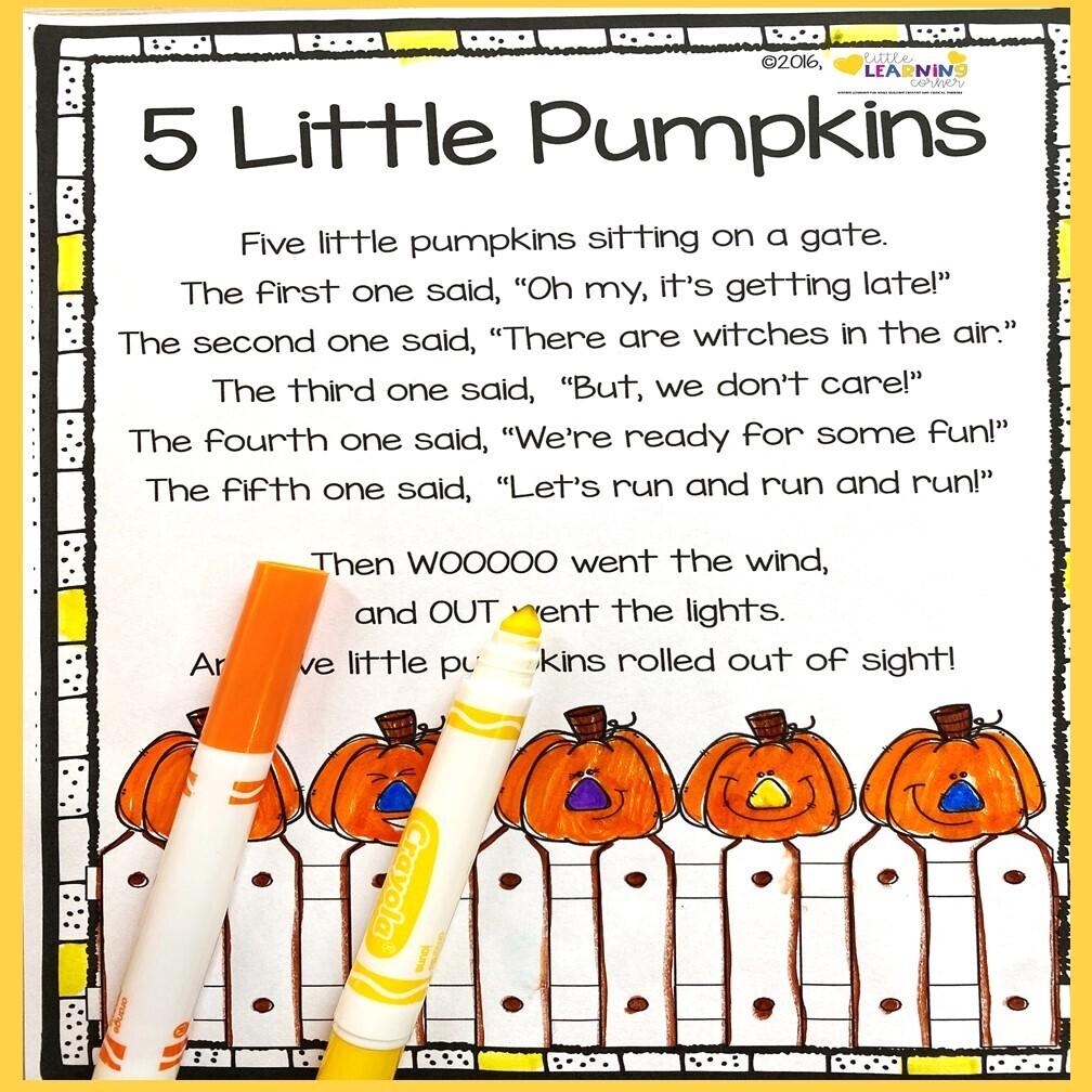 Five Little Pumpkins Poem for Kids