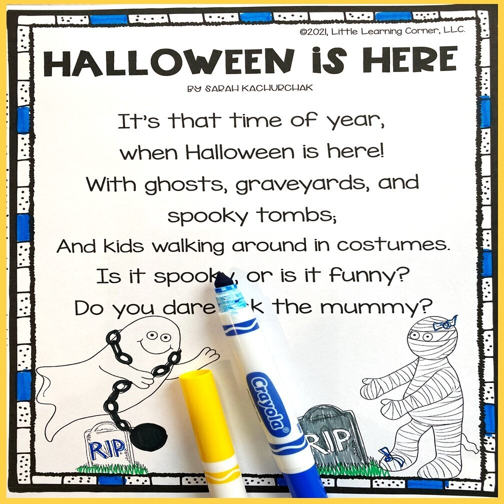 Halloween is Here - Poem for Kids