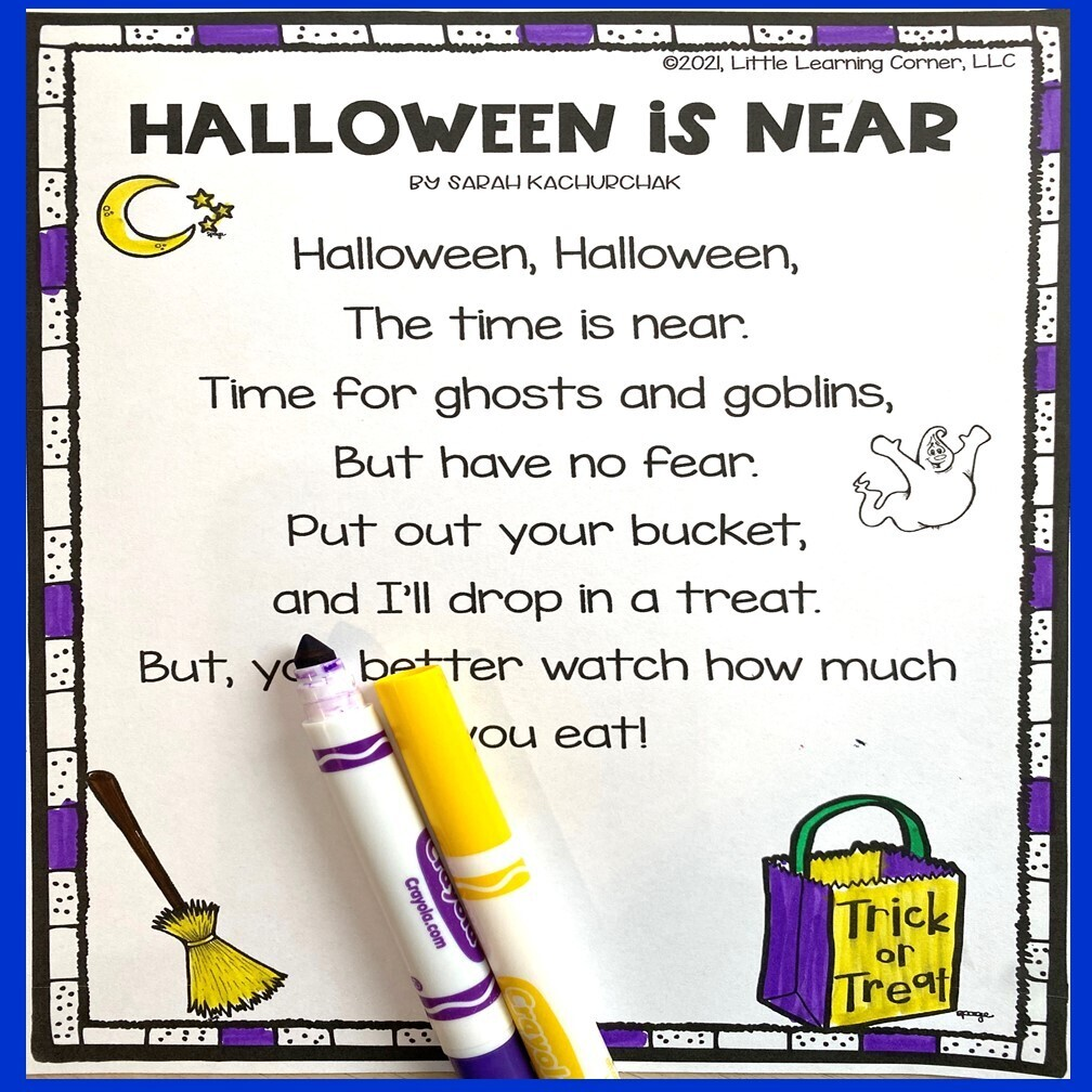 Halloween is Near Poem for Kids