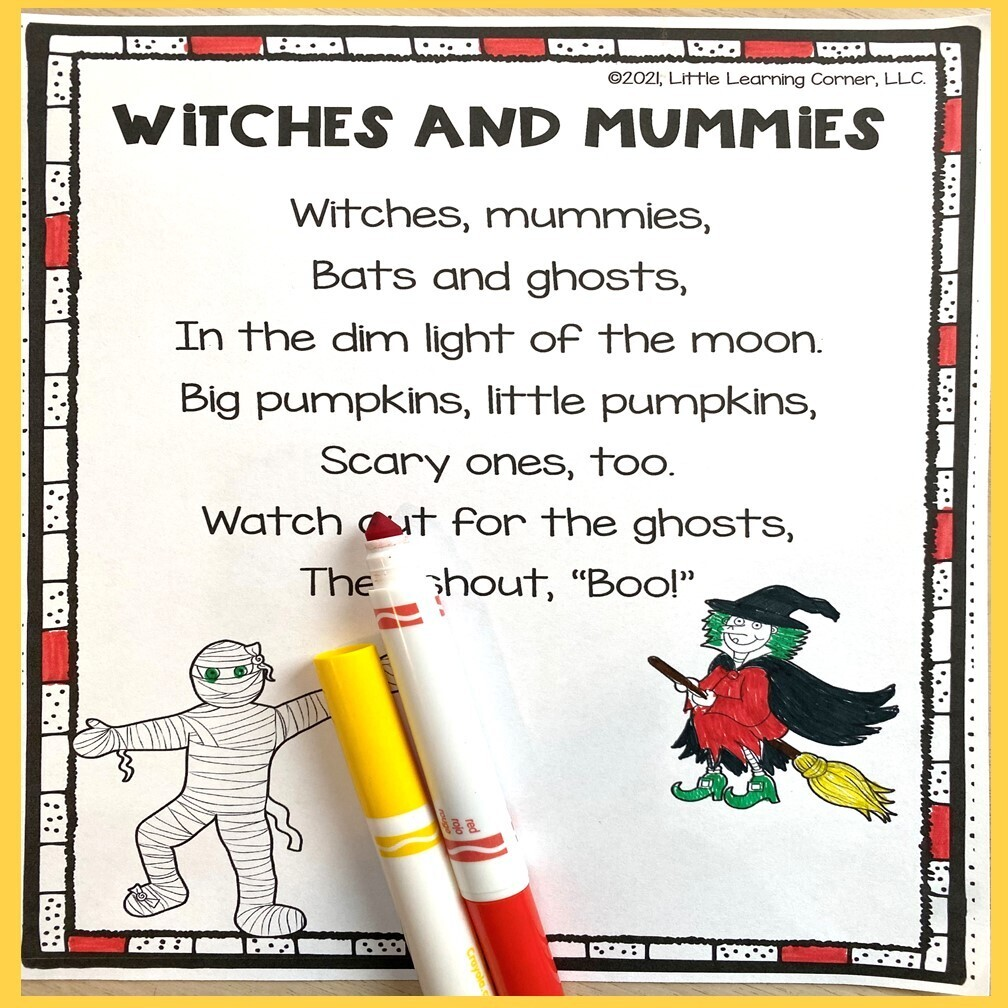 Witches and Mummies Poem for Kids
