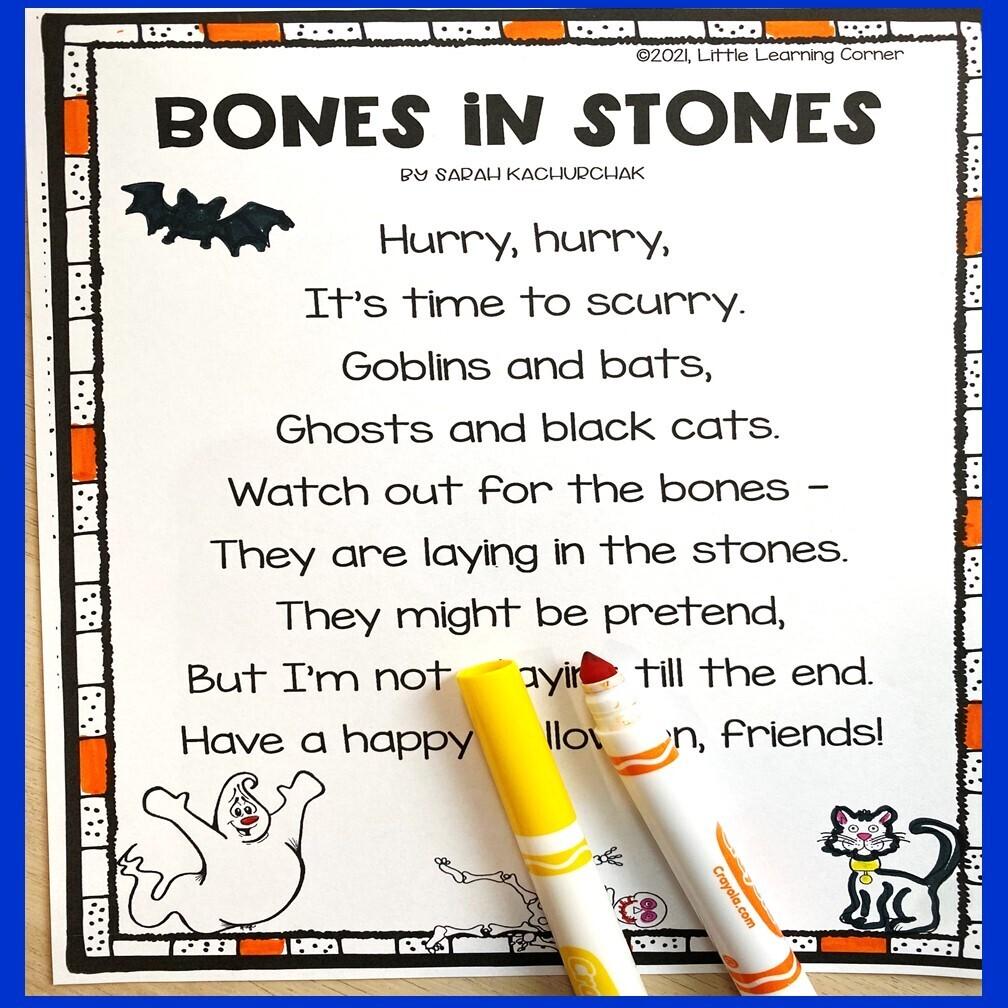 Bones in Stones Poem for Kids