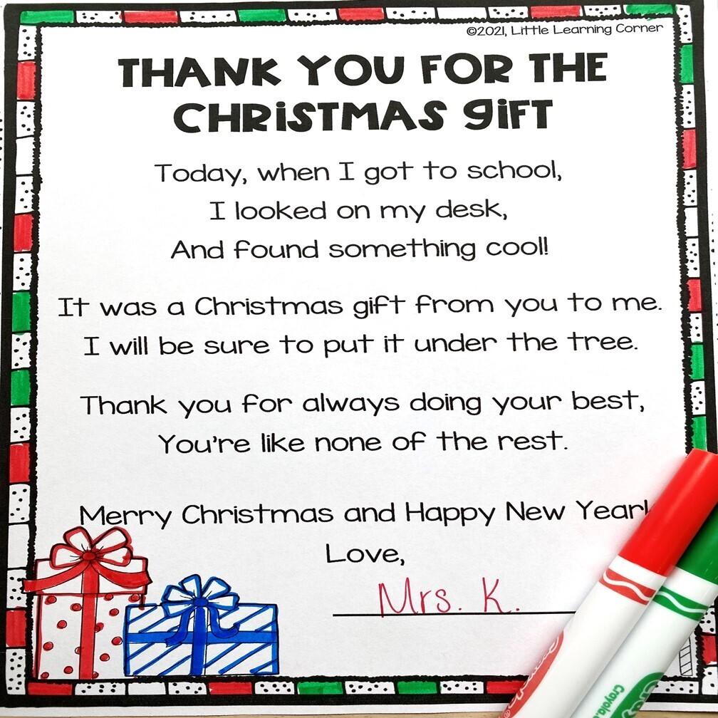 Christmas Thank You Poem