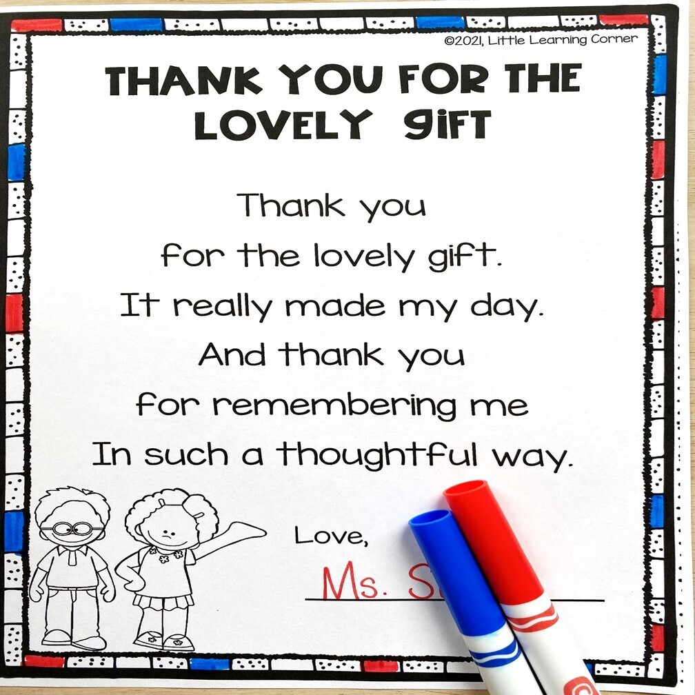 Thank You for the Gift Poem