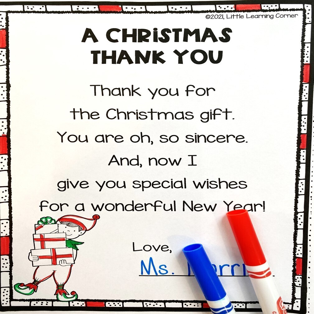 A Christmas Thank You Poem