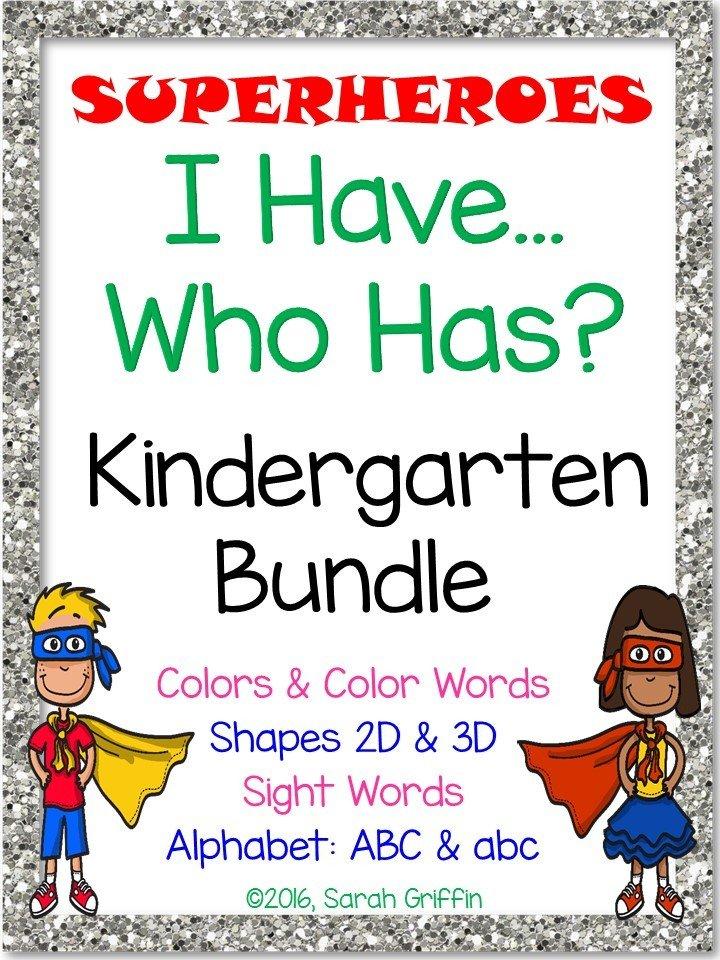 I Have Who Has - Kindergarten Bundle
