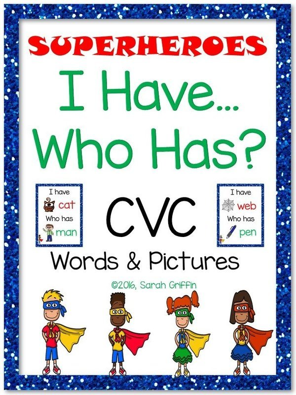 I Have Who Has - CVC Words With Pictures