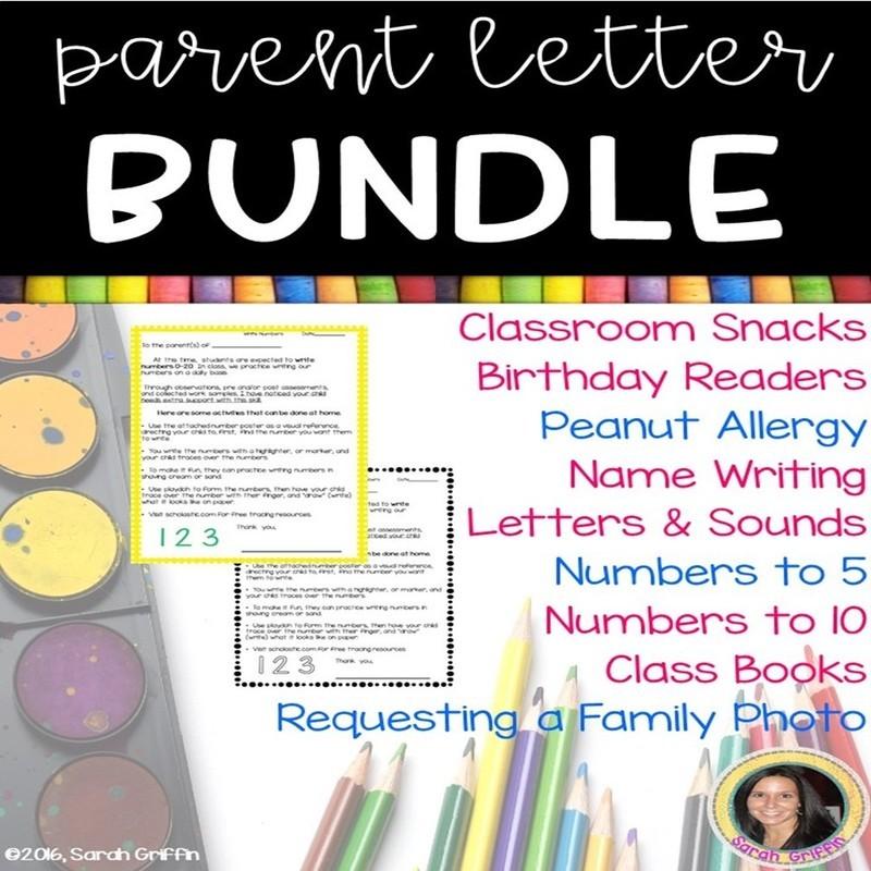 Parent Letters Bundle