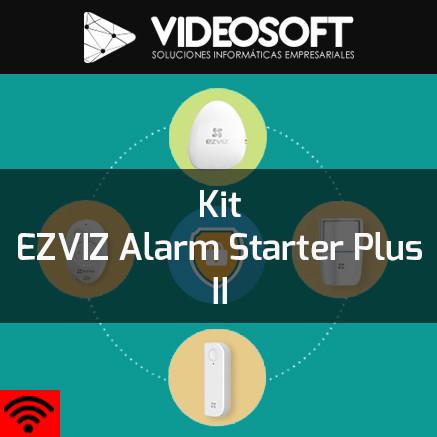 Kit EZVIZ Alarm Starter Plus II   Alarma + Sirena + Sensor + Cámaras + Memorias SD + Back-UPS