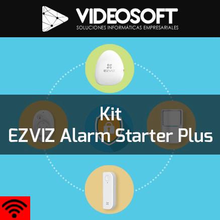 Kit EZVIZ Alarm Starter Plus | Alarma + Sirena + Sensor + Cámaras + Memorias Micro SD + Back-UPS