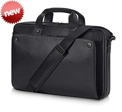 HP Executive Top Load Black Leather 15.6