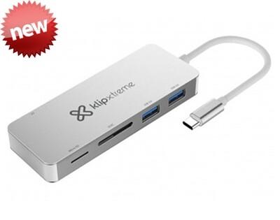 Klip Xtreme USB Hub KCR-500 | Tipo-C