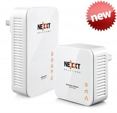 Nexxt Sparx201-W | Kit de adaptador para powerline inalámbrico (Extensión de cobertura Wi-Fi)