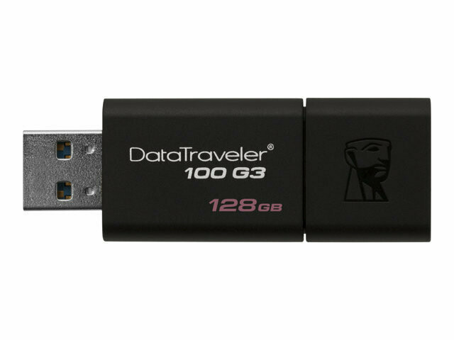 Kingston DataTraveler 100 G3 | Unidad Flash USB | 128GB