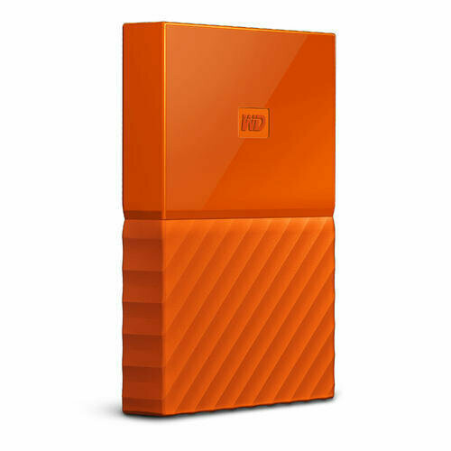 Western Digital My Passport | Disco Duro Cifrado | 2TB | Color Naranja