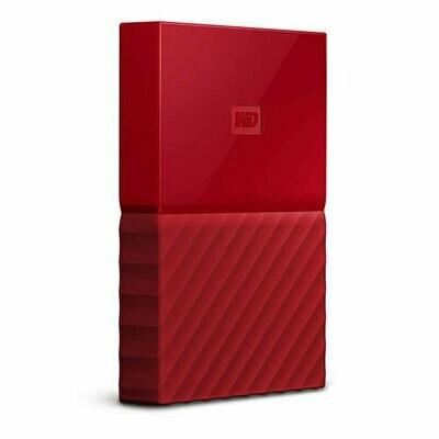 Western Digital My Passport | Disco Duro Cifrado | 2TB | Color Rojo