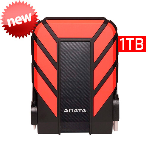 Adata HD710P | Disco Duro Externo | 1TB | Color Rojo