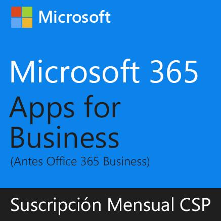 Microsoft 365 Apps for Business | Suscripción Mensual (CSP) por usuario