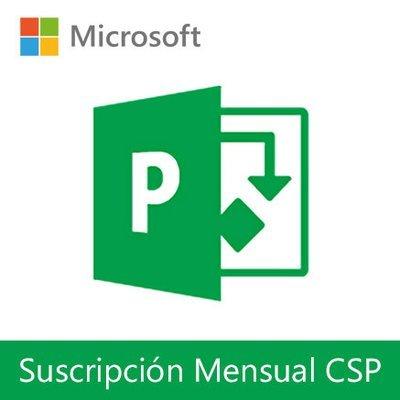 Microsoft Project Online | Suscripción Mensual (CSP) por usuario