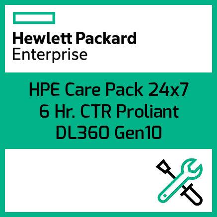 HPE Care Pack 24x7 6 Hr. CTR Proliant DL360 Gen10