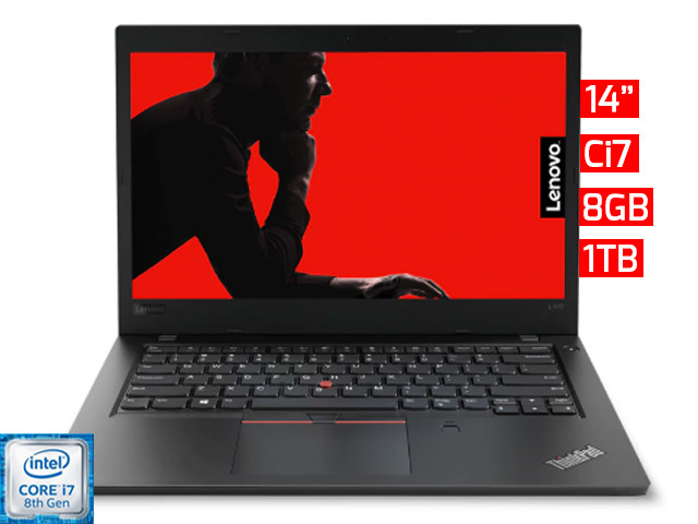 "Lenovo Thinkpad L480 | 14"" - Ci7 - 8GB - 1TB HDD"