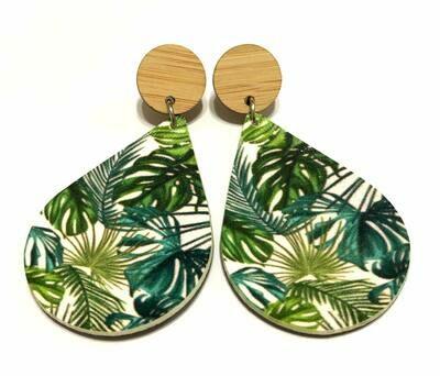 Tropical Teardrop Dangle Earrings