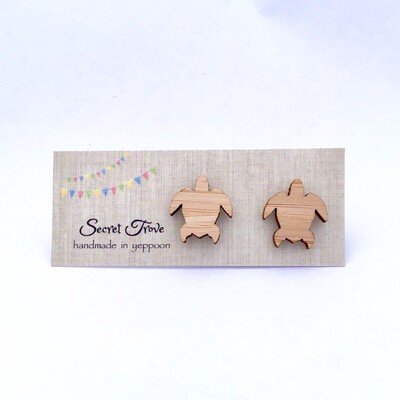 Bamboo Turtle (Large) Studs