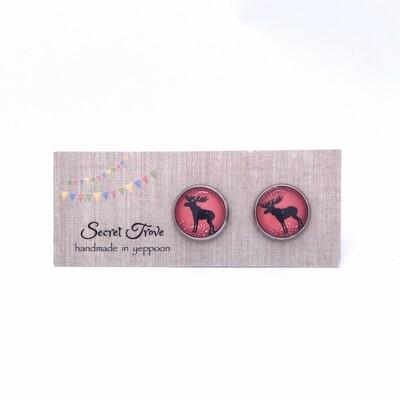 Reindeer Silhouette Earrings