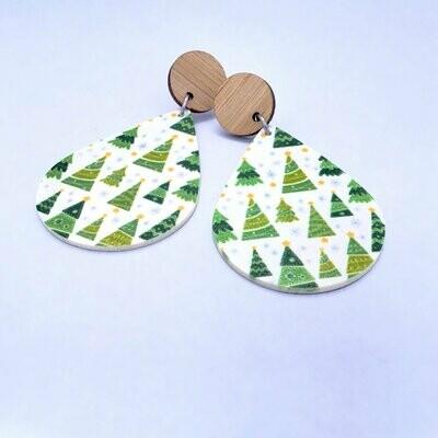 Christmas Trees Teardrop Earrings