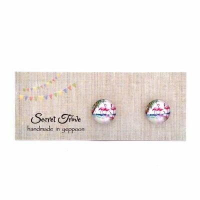Three Flamingos Earrings (Small)