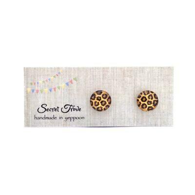 Cheetah Pattern Earrings