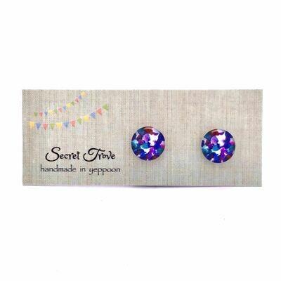 Purple Scales Earrings