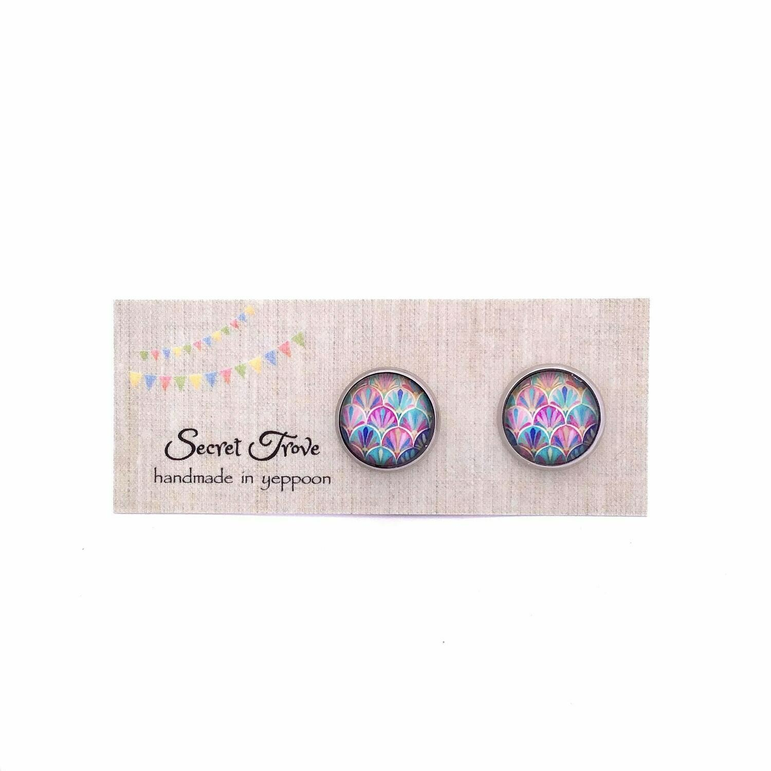 Colourful Scales Earrings