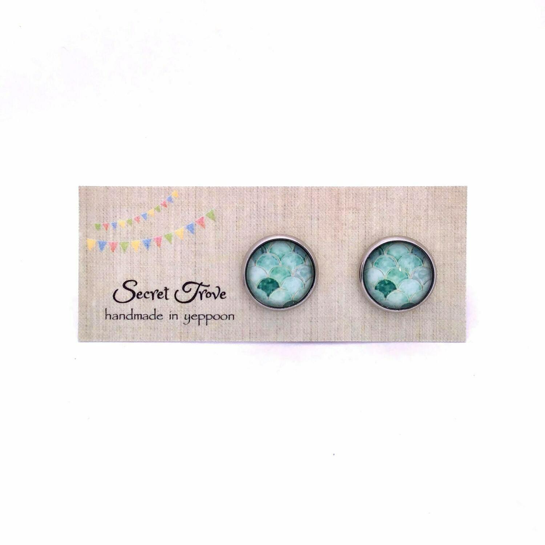 Green Scales Earrings