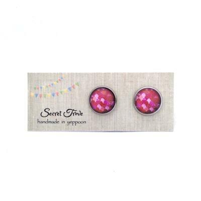 Pink Scale Earrings