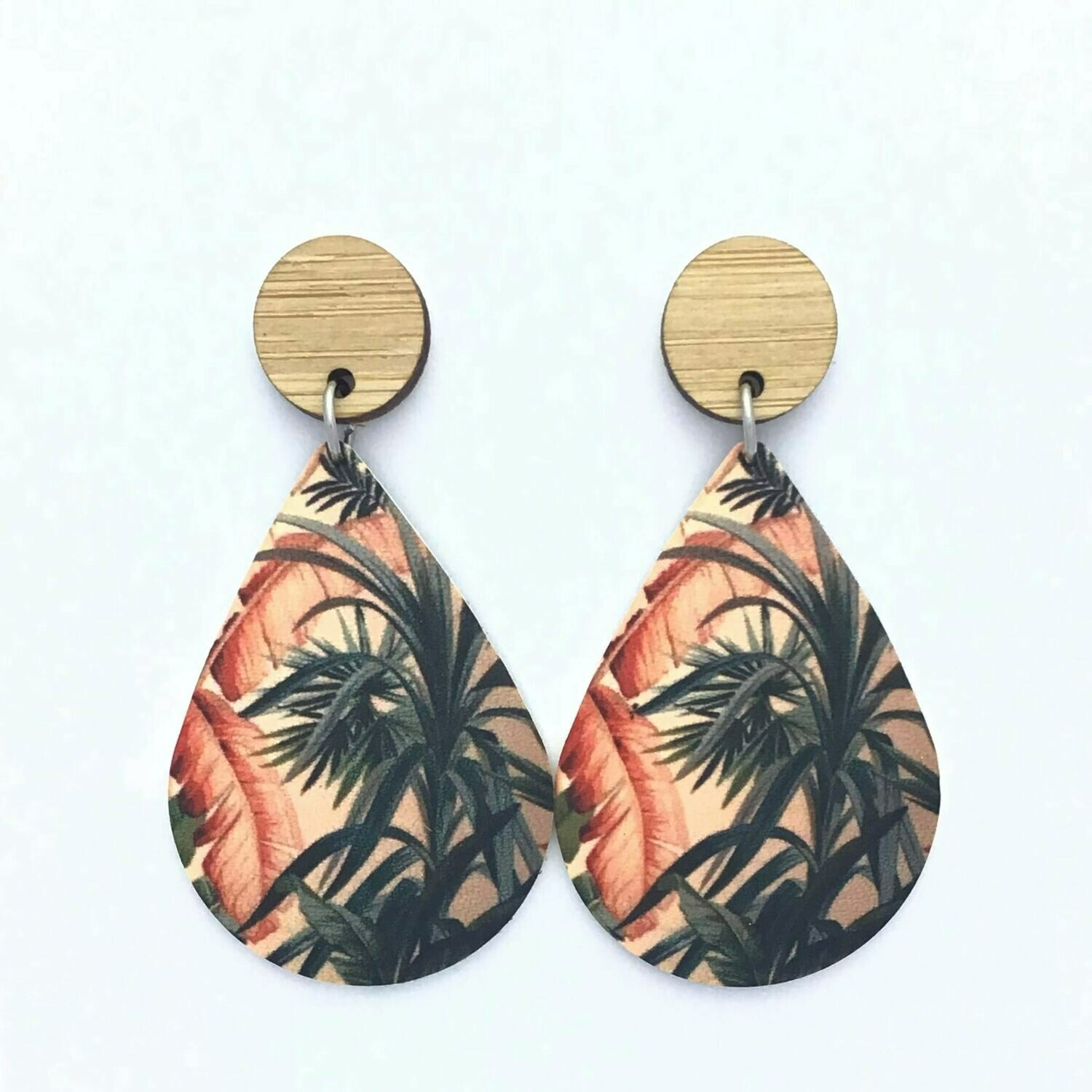 Tropical Sunset Teardrop Dangles