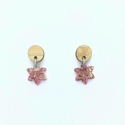 Tiny Pink Petal Dangles